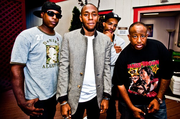 Talib Kweli, Mos Def and DJ Premier backstage at the Rock The Bells Festival in San Francisco