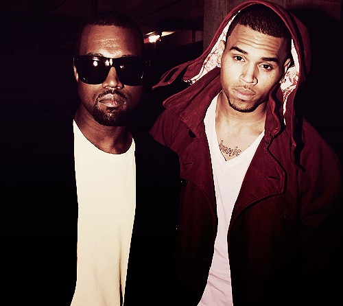 Kanye West and Chris Brown