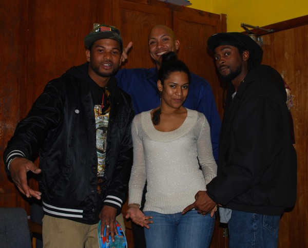 Ells Digi, Isabel Aurora, Notty Dred, and Gerald Olivari