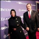 Aretha Franklin arrives to the 2012 BET Honors with her Fiance