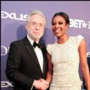 CNN's Wolf Blitzer and Actress Gabrielle Union pose for a picture at the 2012 BET Honors