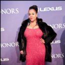 Singer Jill Scott looking amazing in her sequined red dress at the 2012 BET Honors