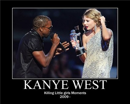 The infamous Kanye West/Taylor Swift fiasco