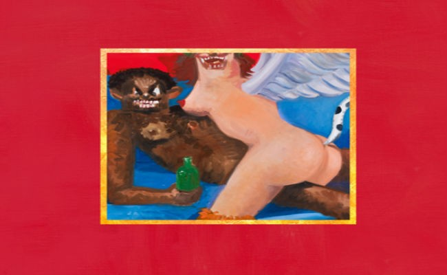 Kanye West s uncensored album cover