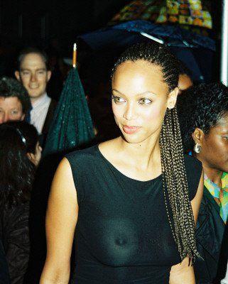 Tyra Banks...peek-a-boo!