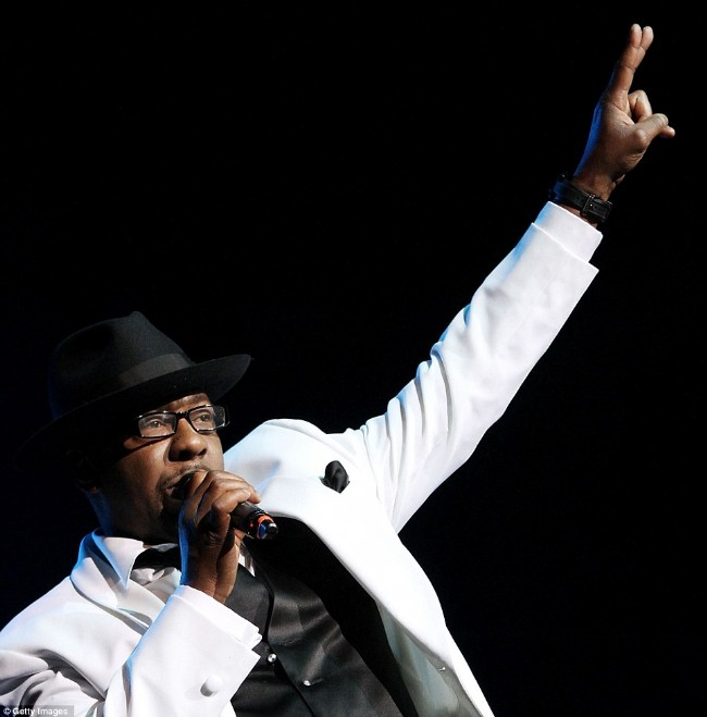 Bobby Brown performing with New Editiion