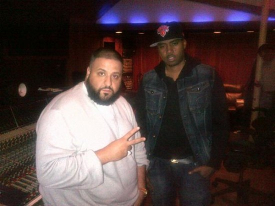 DJ Khaled and Nas in the studio