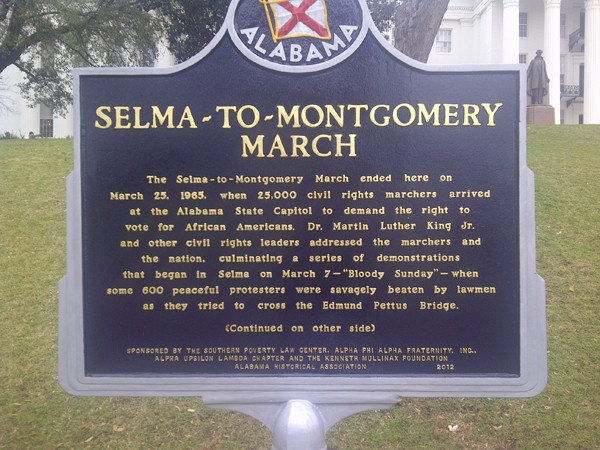 Selma-to-Montgomery March sign (Alabama State Capitol)