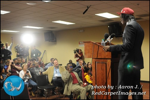 Robert Griffin III  RG3  Press Conference at FedEx Field in Washington DC