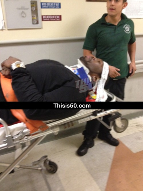 50 Cent was in a bad accident on June 25. His bullet-proof SUV was rear-ended by a Mack truck on the LIE in NYC.