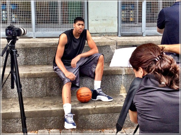 Davis at photo shoot