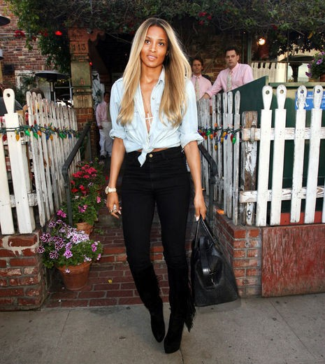 Ciara was at The Ivy restaurant in West Hollywood
