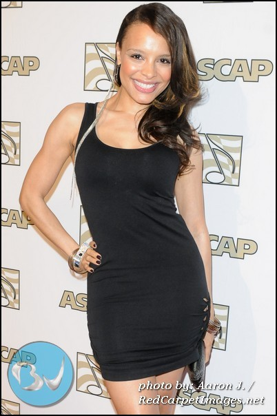 Antonique Smith on the red carpet at the 2012 ASCAP Rhythm and Soul Awards