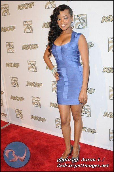 Jennia Fredrique on the red carpet at the 2012 ASCAP Rhythm and Soul Awards