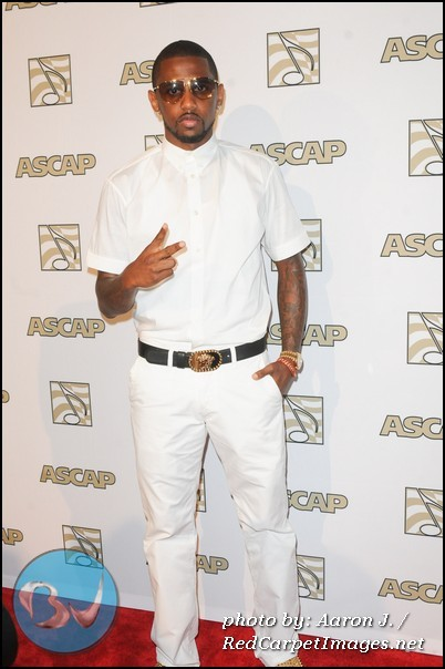 Fabolous stops for photographers at the 2012 ASCAP Rhythm and Soul Awards