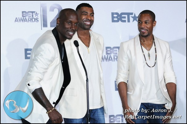 Singers Tyrese, Ginuwine, and Tank promoting their group TGT