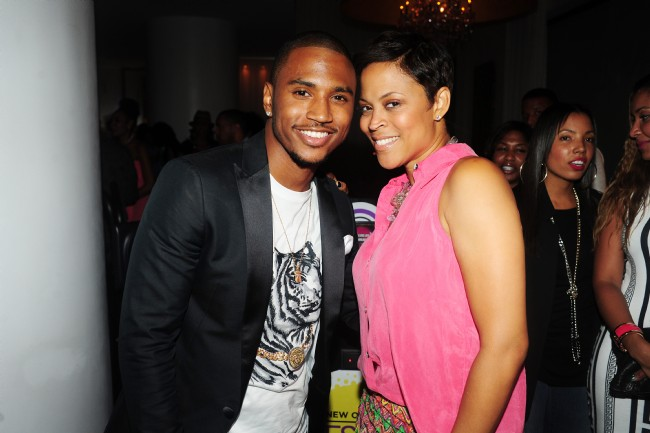 Trey Songz and Shaunie O'Neal at Kevin Hart's 'Hennessy V.S. and Essence Birthday Celebration'