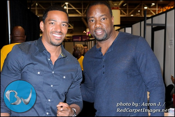 Actors Laz Alonso and Malik Yoba