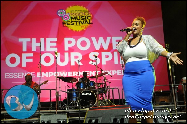 Amber Bullock from BET s Sunday Best performs