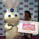 TLC's Chilli at Box Tops for Education booth at the Hoodie awards