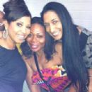 Christal Danielle Jordan (Enchanted PR) with Atlanta socialites Tisha DeShields and Monica Polo