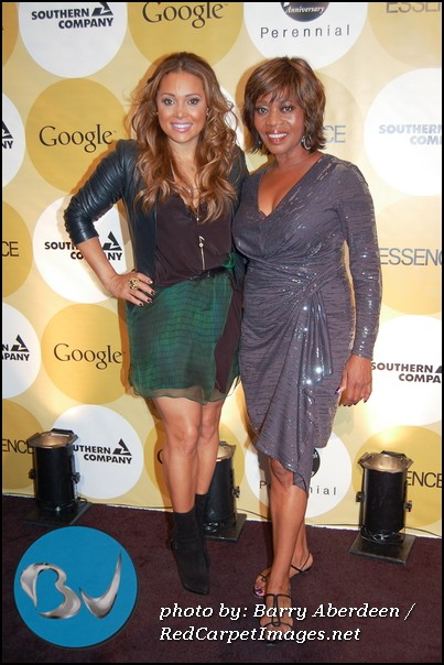 Singer Tamia with Actress and Essence Honoree Alfre Woodward