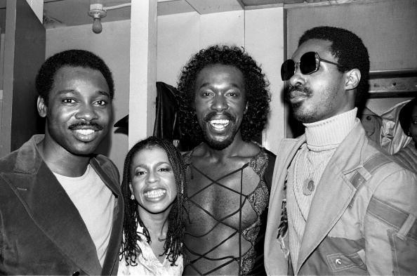 George Benson, Valerie Simpson, Nick Ashford and Stevie Wonder