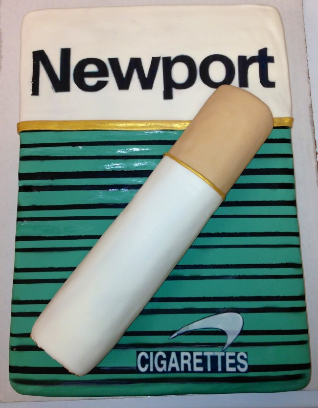 newport cigarette cake