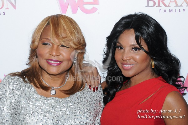 Toni Braxton with her Mother Evelyn Braxton