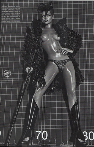 Rihanna Vogue Cover - Semi Nude