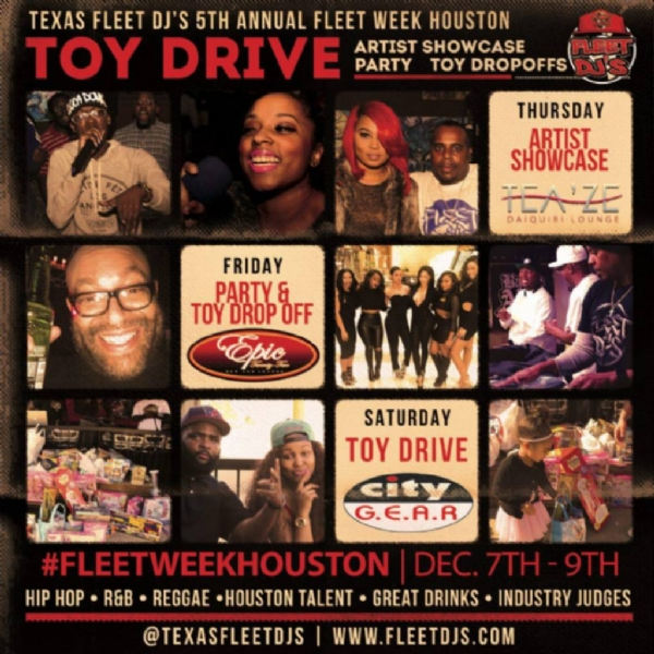 5th Annual Fleet Week Toy Drive [Texas Fleet Djs] #HTOWN CHAPTER