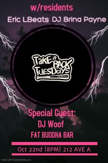 The Return of Take It Back Tuesday w/ DJ WOOF 10/22/19