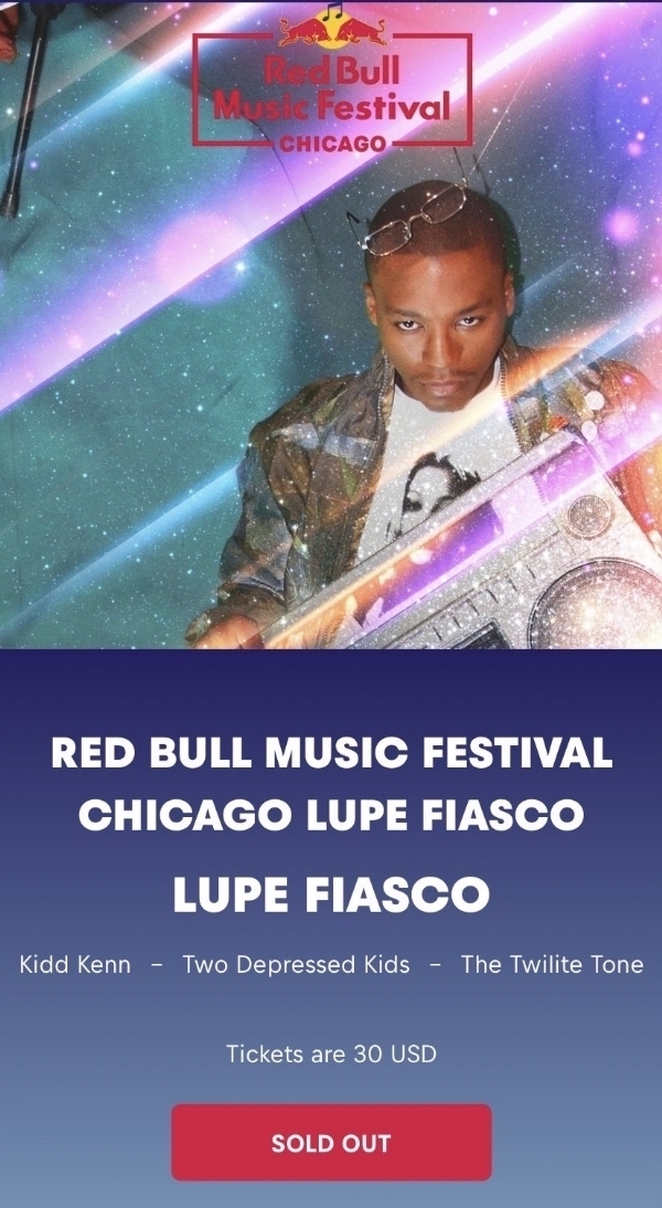 Chi: @LupeFiasco @redbull Today