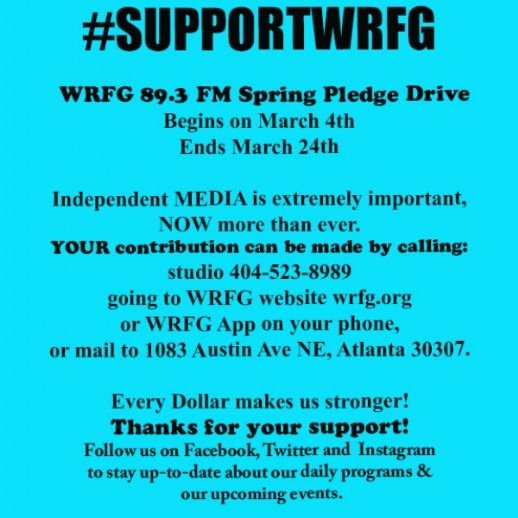 WRFG 89.3 FM Spring Pledge Drive Starts TODAY
