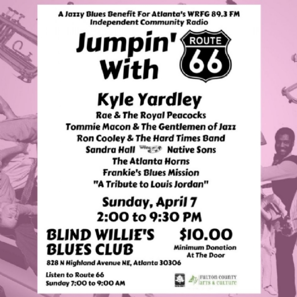 Jumpin With Route 66 on Sunday, Apr 7