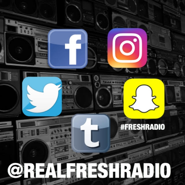 Follow Us @RealFreshRadio we tweet our playlist LIVE and for news and updates