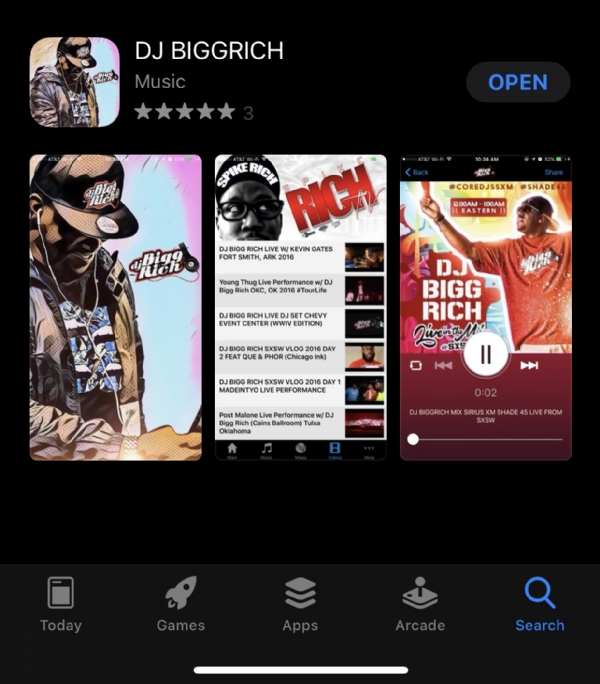 THE NEW AND IMPROVED DJ BIGG RICH APP IS BACK!!!!!!