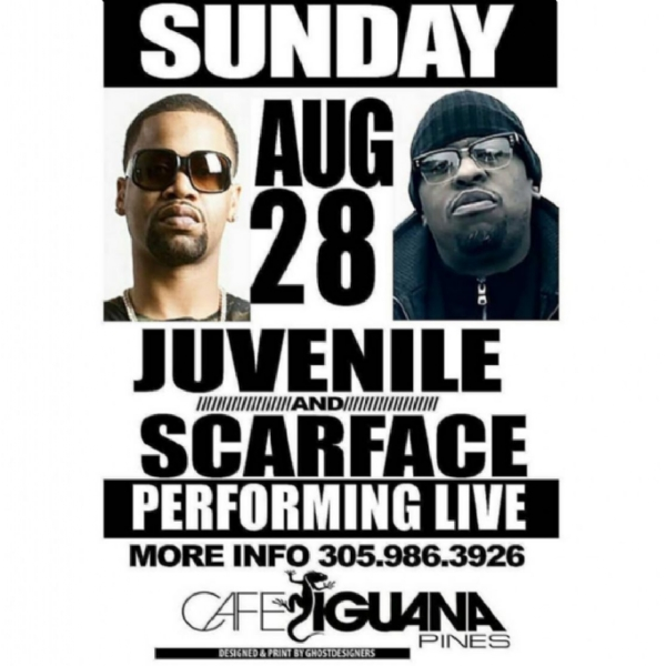TONIGHT TWO LEGEND ONE NIGHT SCARFACE & JUVENILE PERFORMING LIVE