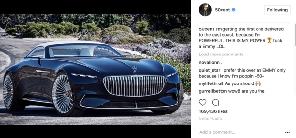 50 cent 39 s found his futuristic af dream car i 39 m getting