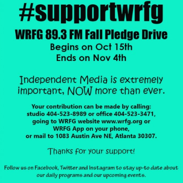 WRFG Fall Pledge Drive Begin Oct 15