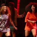 Beyonce joins her sister Solange on stage for a fun filled musical set.