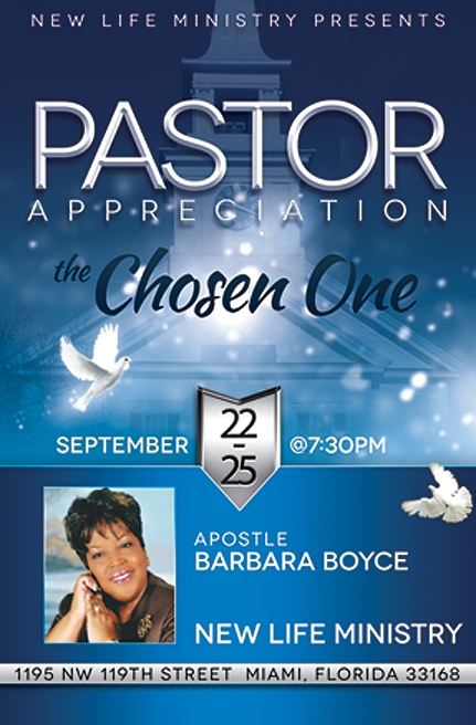 2015 Pastor Appreciation FLyer