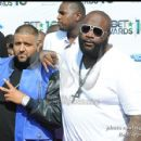 Rick Ross and DJ Khalid on the red carpet at the 2010 BET Awards
