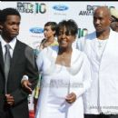 Anita Baker and family attend the 2010 BET Awards
