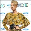 Singer Keri Hilson strikes a pose at the 2010 BET Awards