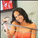 @TraciSteele / The CocaCola booth DJ at Essence Music Fest 2010