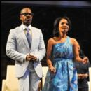 Kirk and Tammy Franklin at Gospel Sunday at Essence Music Fest 2010