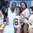 Clinton Portis with the Fever Models