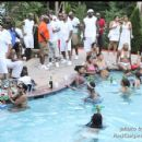Guests at the Mansion Pool Party event