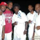 NFL players Clinton Portis, Edgerrin James, & others at the Pool Party